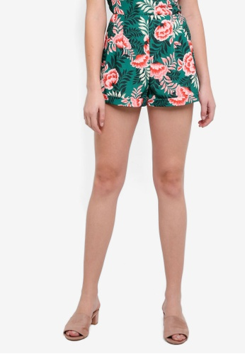 Finders Keepers green Songbird Shorts 83468AAB86084AGS_1