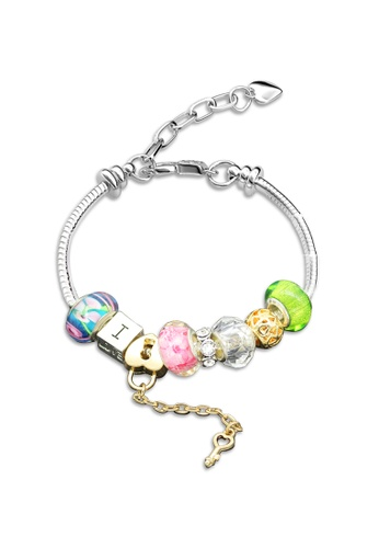 Her Jewellery silver Swarovski® Crystals - Colorful Charm Bracelet (Green) (18K White Gold Plated) Her Jewellery  HE581AC0RCCLMY_1