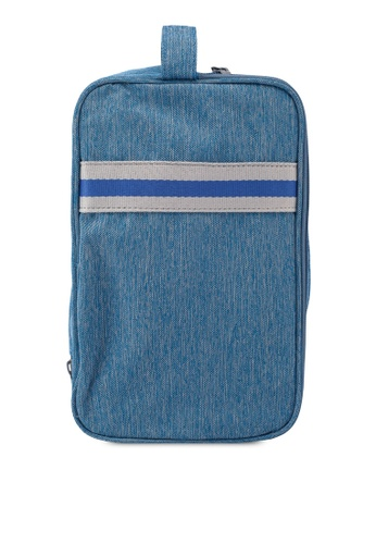 Bagstationz blue Strap Design Lightweight Water-Resistant Travel Toiletries Pouch B3E83AC45A8EAAGS_1