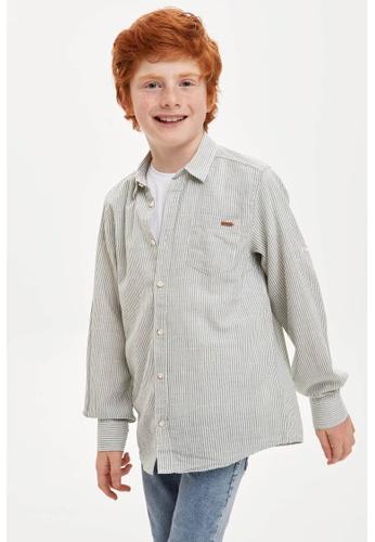 DeFacto green Long Sleeve Cotton Shirt D76C5KA526E6C3GS_1