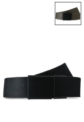 Superdry black Reversible Canvas Belt - Sportstyle Code C7EA9AC4064AA6GS_1