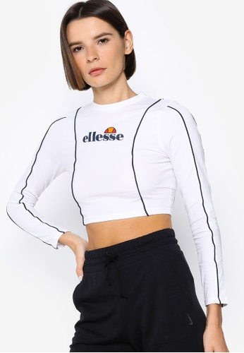 ellesse white Russia Crop T-Shirt E9571AA8B4774CGS_1