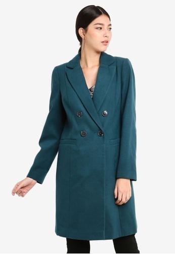 66fa6ad25c9 Buy Miss Selfridge Teal Smart Coat Online on ZALORA Singapore
