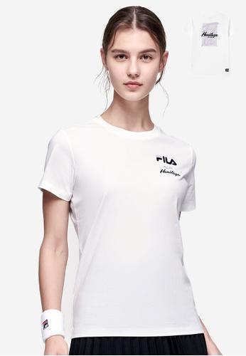 FILA white Athletics FILA HERITAGE Logo T-shirt 429D9AA1E49CBEGS_1