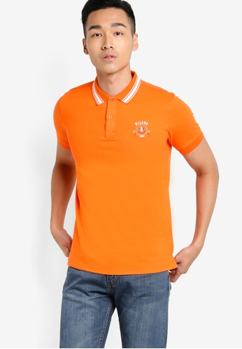 MILANO orange Short Sleeve Polo Shirt MI248AA89LGWMY_1