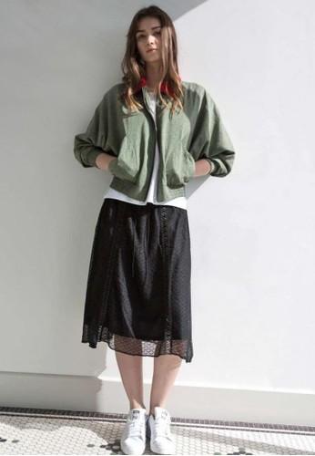 寬袖撞色夾克, 服zalora鞋飾, 夾克 & 大衣