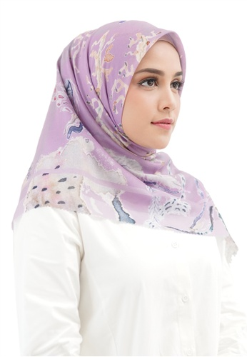Buttonscarves purple Buttonscarves Le Costa Voile Square Orchid 6F860AAE2B14EDGS_1
