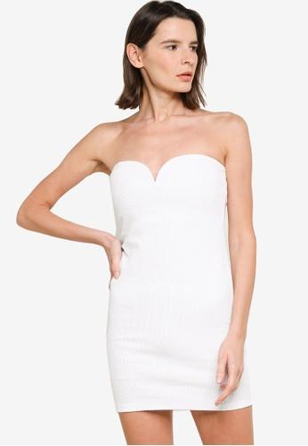 H&M white Strapless Dress 7E107AA7651FFAGS_1