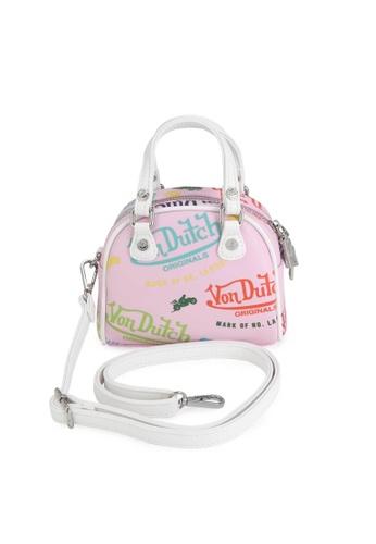 Von Dutch pink Von Dutch Pink All Over Print Micro Mini Bowling Bag 0E110AC0AE1011GS_1