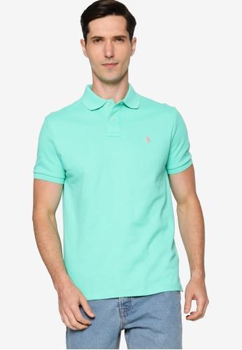 Polo Ralph Lauren 綠色 Custom Slim Fit Mesh Polo Shirt A5DFCAAE1D4F3BGS_1