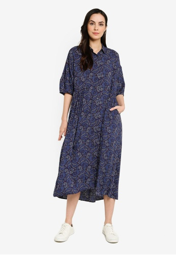 niko and ... navy Printed Shirt Dress 4E58BAA1636C3BGS_1