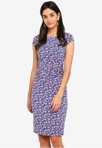 Dorothy Perkins blue Teal Small Floral Midi Dress 8357BAA0BD3B34GS_1