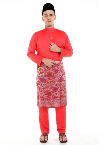 Amar Amran red Baju Melayu Classic AM362AA93MISMY_1