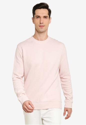 French Connection pink Flatback Rib Sweatshirt 94283AA136090DGS_1