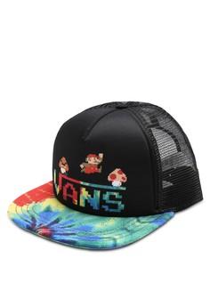 Vans Nintendo Mario Tiedye Trucker Hat image