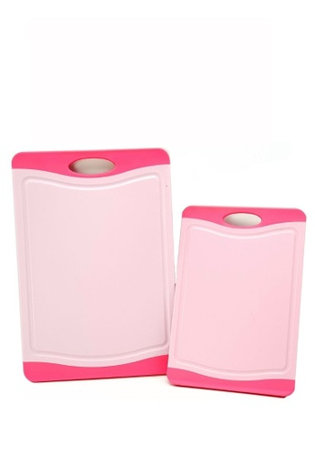 Neoflam pink NEOFLAM Flutto Antimicrobial Cutting Board (2 Piece) - Pink 778DFHL7AF3F7FGS_1
