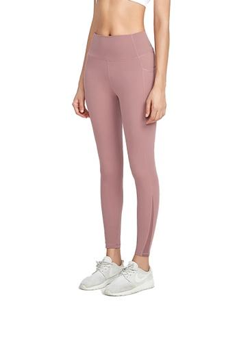 B-Code pink ZWG1118-Lady Quick Drying Running Fitness Yoga Leggings-Pink 01474AA5BC2D5CGS_1