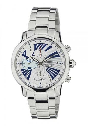 Seiko multi Seiko Criteria Blue and Silver Stainless Steel Watch 4CAAEAC039F534GS_1