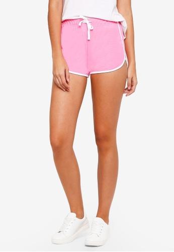 TOPSHOP pink Sporty Neppy Runner Shorts E2710AA9433B77GS_1
