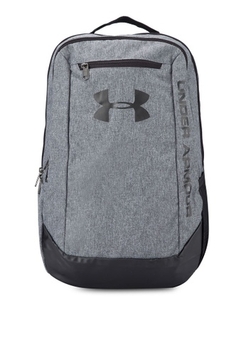 Under Armour grey UA Hustle LWDR Backpack UN337AC77VFAMY_1