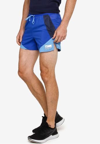 Nike blue Flx Strd 5 Inch Brief B Shorts F2A48AA02079ECGS_1