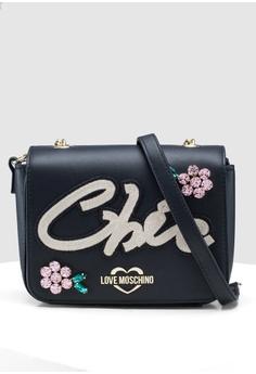 5acd619e4 Love Moschino black Soft Calf Chic Sling Bag DC340AC6CB0B48GS_1