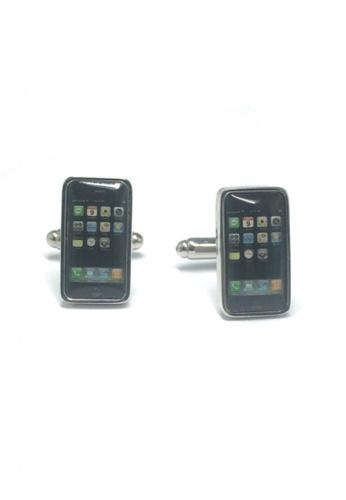 Splice Cufflinks black Smartphone Cufflinks   SP744AC50EFHSG_1