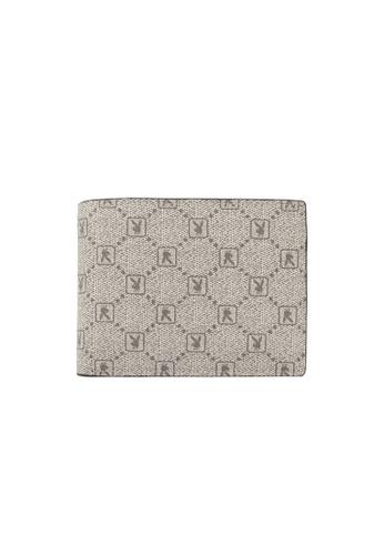 Playboy grey Rfid Blocking Bi-Fold Wallet 5C3CFAC1762E14GS_1