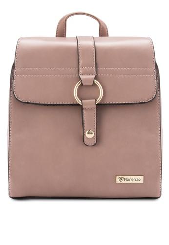 florenzo brown Florenzo Classic Backpack FL898AC0RUSAMY_1