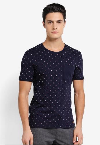 ESPRIT navy Short Sleeve T-Shirt ES374AA0SPJ3MY_1