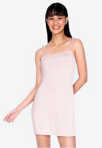 ZALORA BASICS multi Striped Knit Dress 07316AA6F3490AGS_1