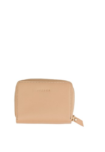 Starke Leather Co white and pink and beige STARKE's Leather Zippered Wallet Terse Doe Wheat Beige DC3BDACA3699F0GS_1