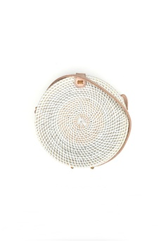 0b3469c67a ASHLEY SUMMER CO white Round Basket Bag (White) BDA76ACC4246BDGS 1