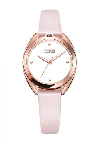 Solvil et Titus pink Ring & Knot Women's 2 Hands Quartz Silver White Dial and Pink Leather Strap 250ACAC0B94954GS_1