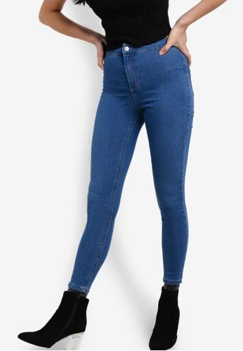 TOPSHOP blue Petite Joni Jeans TO412AA74PBTMY_1