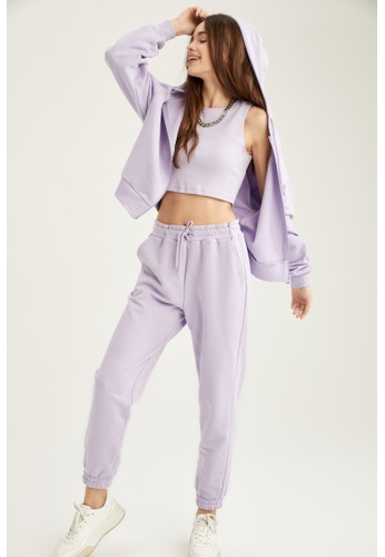 DeFacto purple Woman Knitted Trouser. D2B48AAC2A3694GS_1