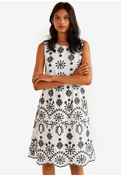 b43f4d5d347 MANGO white Floral Embroidery Dress 9A93BAAA7B8883GS 1