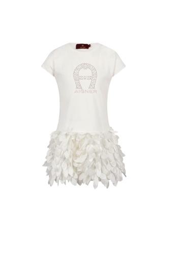 AIGNER KIDS white AIGNER GIRLS DRESS 4FAA6KAB881A62GS_1