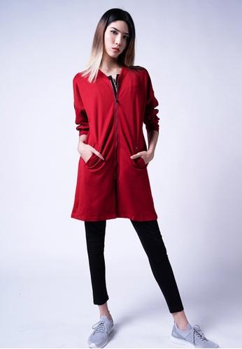 AVIVA red AVIVA Audra Authentic Long Sleeve Top 7D8CDAAC204170GS_1