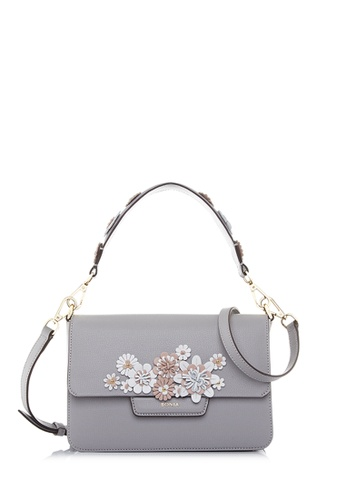 BONIA grey Light Grey Botanica Shoulder Bag  S 481DCACE478736GS_1