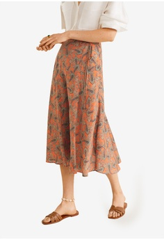 4781705e97cf Mango orange Paisley Patterned Midi Skirt 3442AAA74316B7GS_1