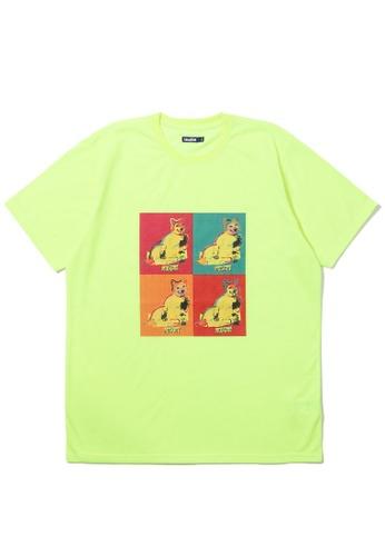 BLOCKAIT yellow Akita Ken Pop Art tee 77E8DAAB0BF37DGS_1