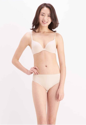 Her Own Words beige Signature Push Up Plunge Bra 0C562USBB1280AGS_1