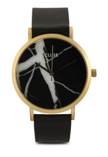La Roche esprit outlet 台灣大理石真皮圓錶, 錶類, 皮革錶帶