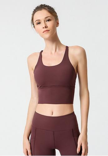 B-Code purple ZYG3037-Lady Quick Drying Running Fitness Yoga Sports Bra -Purple CF47CUSC1DB23AGS_1