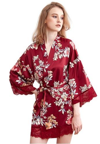 LYCKA 紅色 LCB8022-女士一件式居家休閒睡袍-紅色 2FA71AADFA7468GS_1
