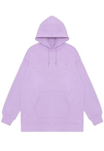 Mini cream purple MMM embroidered hoodie FE263AA19EC29DGS_1