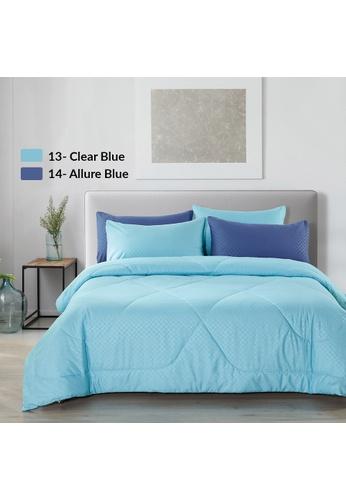 Epitex blue Epitex Homu HC8514 900TC Bedsheet - Fitted Sheet Set (Allure Blue) - (w/o quilt cover) AC484HL326A2E8GS_1