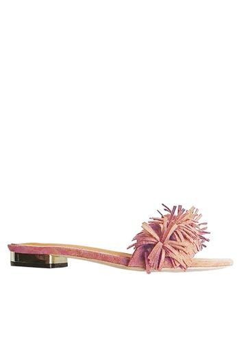 Twenty Eight Shoes pink Tassel Flip-flops VS-311 TW446SH44UELHK_1