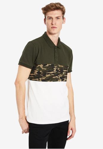 LC WAIKIKI green Camo Polo Shirt 3EB13AA7DFC86CGS_1